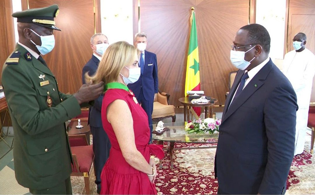 The President of the Cuomo Foundation awarded Senegal's Highest Honour-the National Order of the Lion