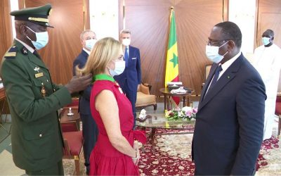 The President of the Cuomo awarded Senegal's Highest Honour-the National Order of the Lion