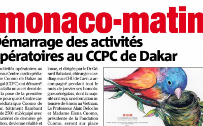"Dakar's CCPC featured in ""Monaco-Matin"""
