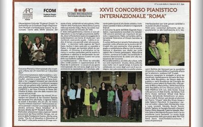"""la Repubblica"" Gives Media Coverage to The Italian Piano Competition Supported by The Foundation"