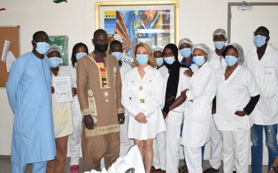 The behind the scenes healthcare workforce are honoured by Senegalese artist gift to CCPC-Dakar