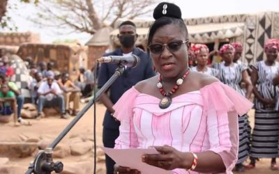 Minister of Culture applauds the female skills and cultural heritage of Dora Murals event-Burkina Faso
