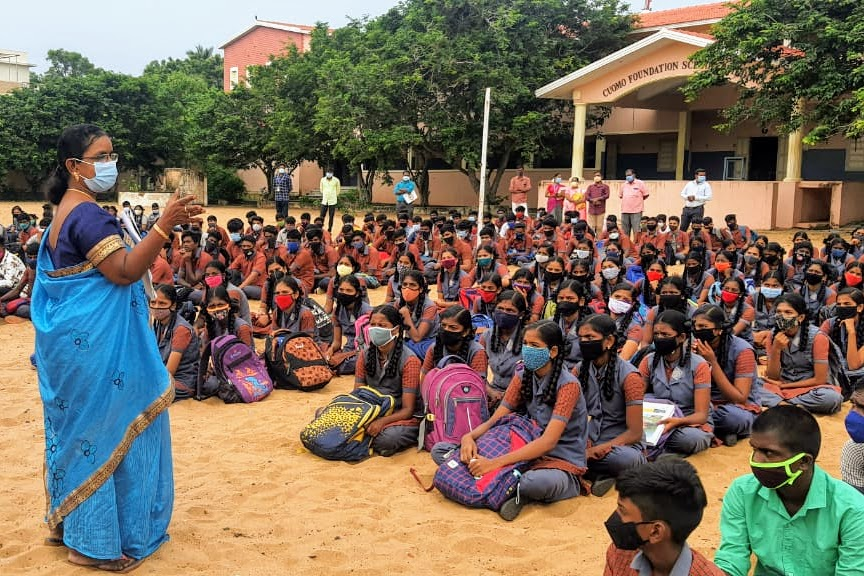 Partial Reopening of Schools and Colleges in Tamil Nadu, India